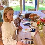 Med karanteno se je navdušila nad slikanjem akvarelov. (foto: Foto: Profimedia)