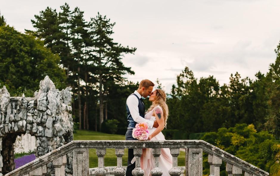 Poglejte si, kakšen je bil poročni dan Filipa Peska in njegove neveste Nastje (foto: Foto: Sonataphotographica)