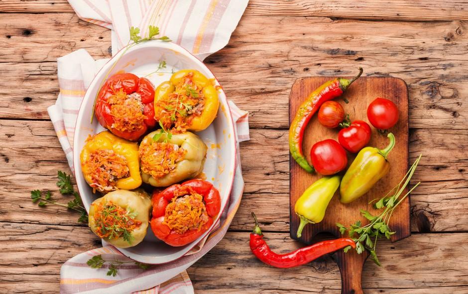 Polnjene paprike po receptu Ane Žontar Kristanc (foto: Profimedia)