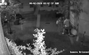Žalostno! Kamera posnela objestneža, ki sta v Ljubljani uničevala drevesa (video)