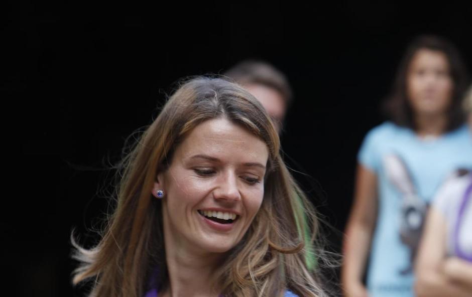 To je verjetno daleč najlepša modna kombinacija, ki jo je nosila Urška Bačovnik, fotografija vas bo osupnila (foto: Helena Kermelj)