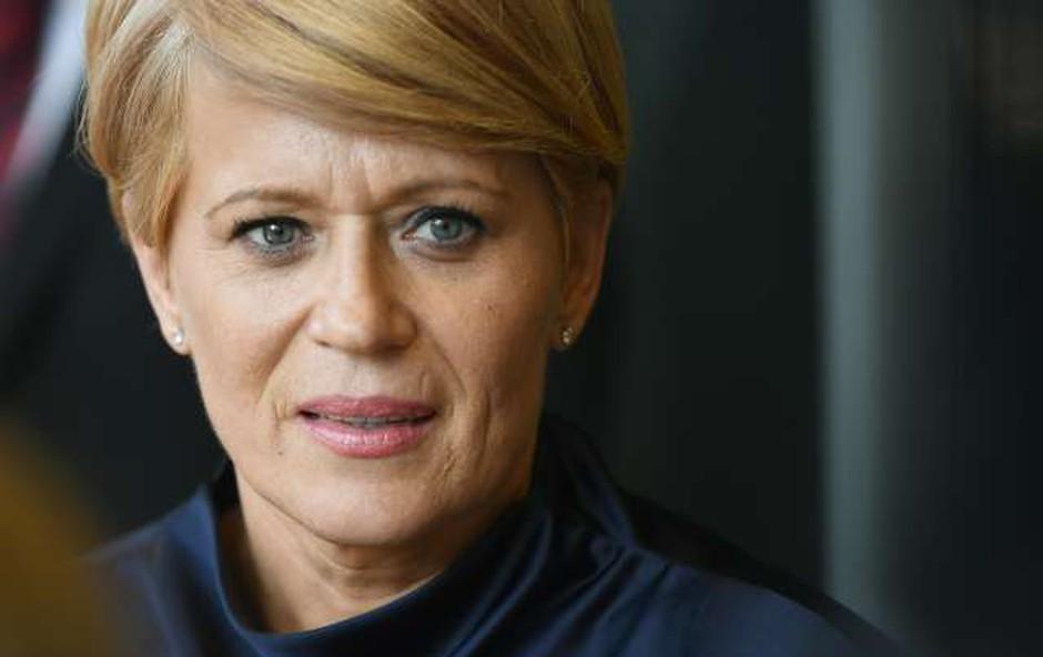 Aleksandra Pivec zgroženo o tem, da jo novinarji ves čas imenujejo prostitutka (foto: Tamino Petelinšek/STA)
