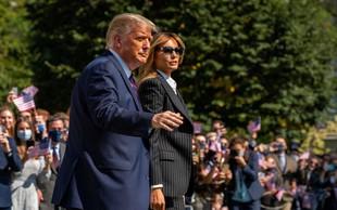 Trumpova objava, da sta z Melanio pozitivna, završala po Twitterju