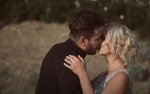 Pa smo dočakali, Špela Grošelj in Domen Kumer sta se strastno poljubila, kamere pa vse posnele