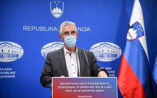 Gantar: Za sproščanje ukrepov bo zadostoval en dosežen pogoj, prvi je manj kot 1350 novih okužb
