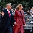 Melania in Donald Trump verjetno še nikoli nista bila tako stilsko usklajena, poglejte si ju