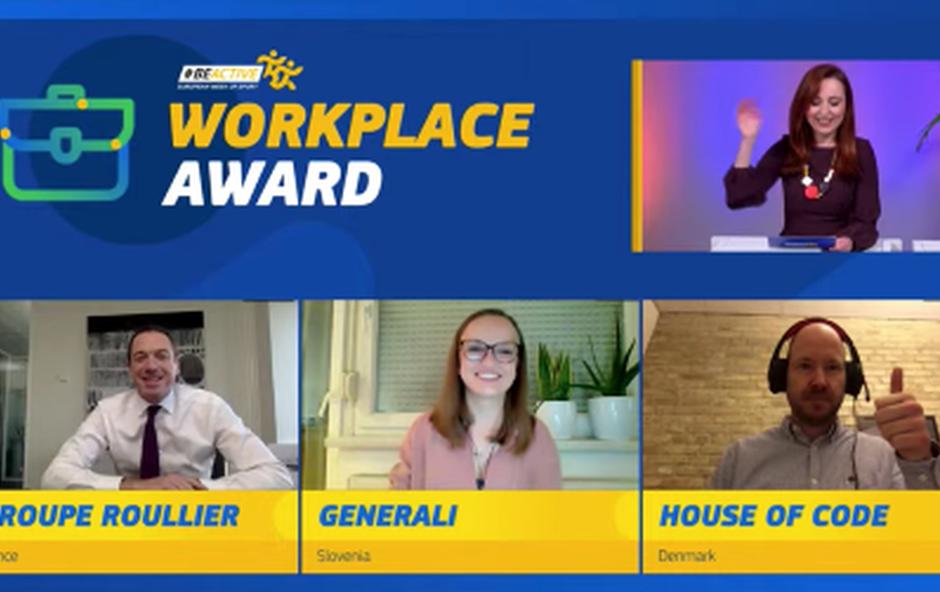 Zavarovalnica Generali med finalisti za nagrado Evropske komisije »BeActive Workplace Award« (foto: Promocijsko gradivo)