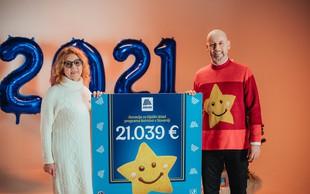 HOFER z Nasmeškotki za Botrstvo zbral rekordnih 21.039 evrov