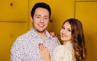 Mladoporočenca Alex Volasko in Saša Lešnjek: Ne moreš biti vedno z glavo v oblakih