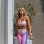 EXCLUSIVE: NO WEB UNTIL TUESDAY, MARCH 16TH 12PM PST -- Must credit: Christopher Oquendo/Splash News<br /> <br /> 'Southern Charm' stunner Madison LeCroy shrugs off blame claims after becoming embroiled in A-Rod and JLo's split drama. The reality TV hottie stepped out in her hometown Charleston, South Carolina, on Sunday amid the fallout from the engaged A-list couple's on-off breakup. Showing off her flawless figure, the tanned and toned blonde looked relaxed as she took a stroll to her gym. The 34-year-old mother of one looked busy on her phone as she turned heads in an eye catching multicolored workout leggings and sports bra combo. She looked upbeat and carefree but kept it zipped when quizzed about her role in the Hollywood couple's supposed breakup. When asked by photographers whether she had been involved with JLo's fiance Alex Rodriguez or whether they were still talking she had no comment. Madison was said to have taken part in steamy FaceTime sessions with the former NY Yankees slugger in recent allegations which have been denied by both camps. But within weeks of those claims, A-Rod and JLo are said to be having serious issues in their relationship.<br /> <br /> Pictured: Madison LeCroy,Image: 598001102, License: Rights-managed, Restrictions:, Model Release: no (foto: Foto: Profimedia)