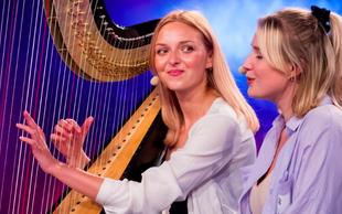 Slovenija ima talent: Punci s harfo (SIT) sta pravzaprav SESTRA in DEKLE tega znanega Slovenca